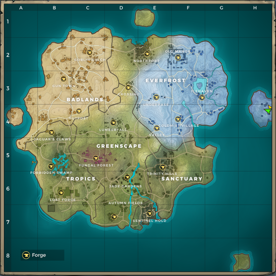 Map of Realm Royale